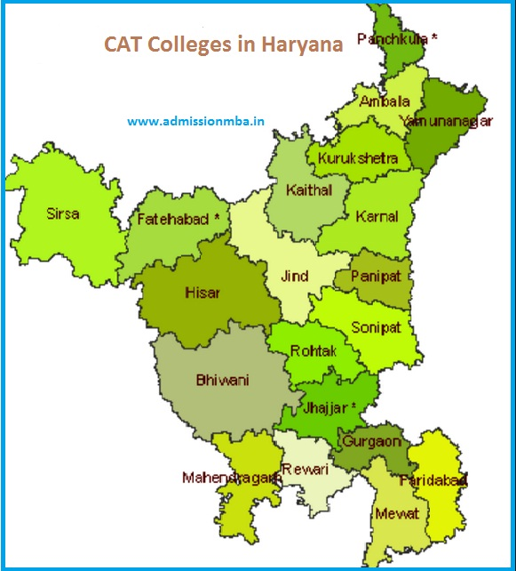 MBA Colleges Accepting CAT score in Haryana