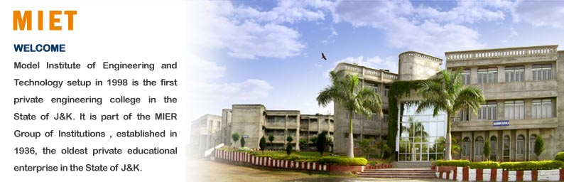 Model Institute of Engineering and Technology in jammu kashmir
