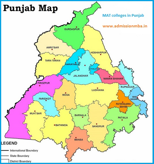 MBA Colleges Accepting MAT score in Punjab