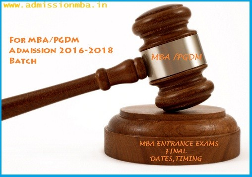 MBA Entrance Exams Dates 2016