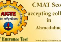 CMAT Score accepting colleges in Ahmedabad