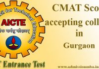 CMAT Score accepting colleges in Gurgaon