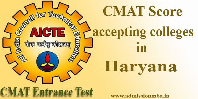Colleges accepting CMAT in Haryana