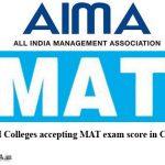 MBA Colleges Accepting MAT score in Chhattisgarh