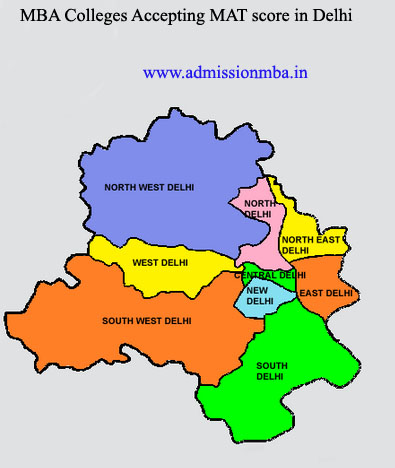 MBA Colleges Accepting MAT score in Delhi