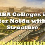 MBA Colleges Greater Noida Fees