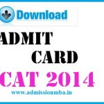 CAT 2014 admit cards Out
