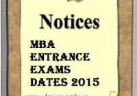 MBA Entrance Exams dates 2015