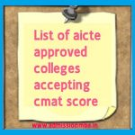 List of aicte approved colleges accepting cmat score