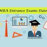 MBA Entrance Exams dates