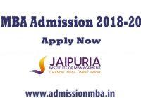 Jaipuria MBA Admission 2018