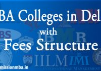 MBA Colleges in Delhi with fees Structure