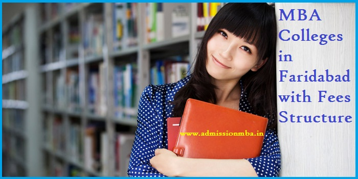 MBA Colleges in Faridabad with Fees Structure