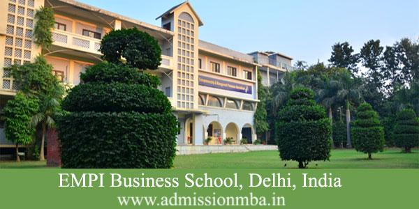 EMPI Business School Fees Delhi