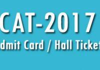 Hall Ticket CAT 2017