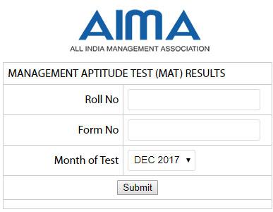 MAT Result Dec 2017 MAT Score December exam Announced AIMA