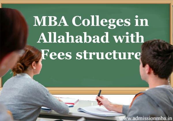 MBA fees in Allahabad, Uttar pradesh