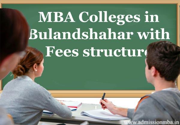 MBA fees in Bulandshahar, Uttar Pradesh
