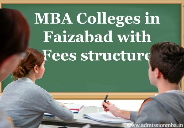 MBA fees in Faizabad, uttar Pradesh