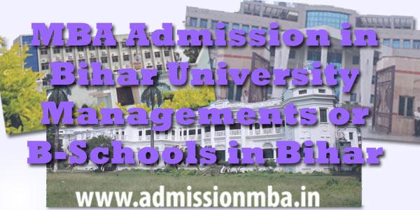 Bihar Colleges in MBA Admission Bihar