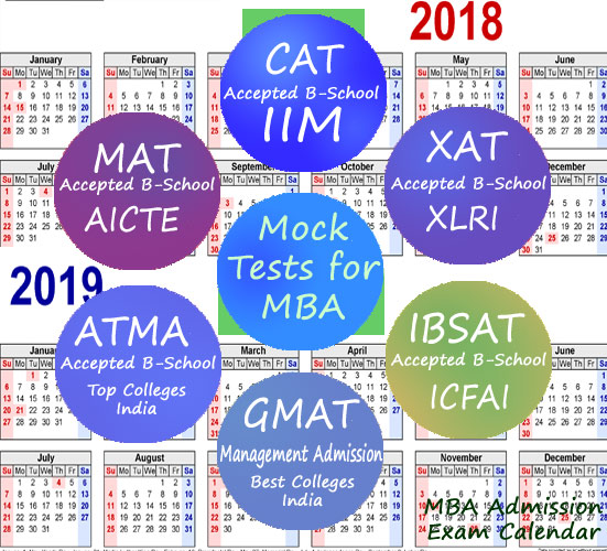 MBA Admission Exam Calendar 2018