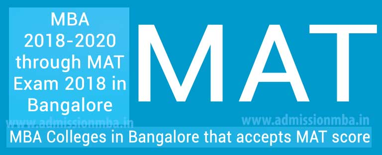 MBA/PGDM Colleges in Bangalore under MAT