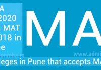 MBA Colleges pune accepts MAT score