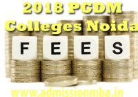 PGDM colleges in Noida Fees Structure