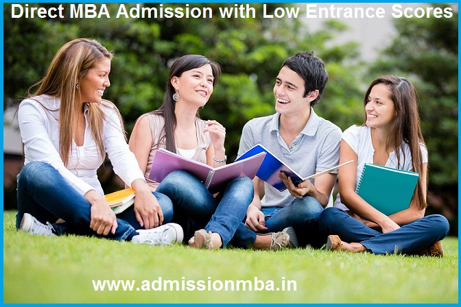Direct MBA Admission with Low Entrance Scores