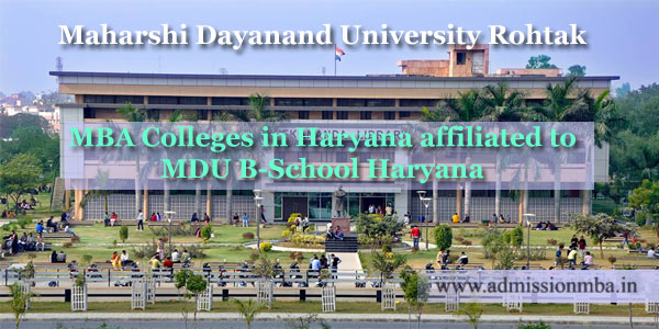 MBA Colleges in Haryana affiliated to MDU