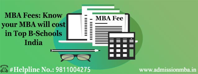 MBA Fees Top B-Schools India