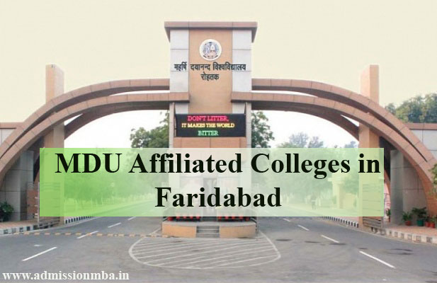 MDU Affiliated Colleges in Faridabad