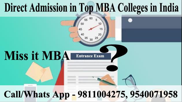Miss it MBA entrance exam