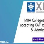 Top MBA Colleges in India accepting XAT score
