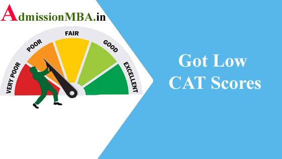 CAT 2019 Got Low CAT Scores