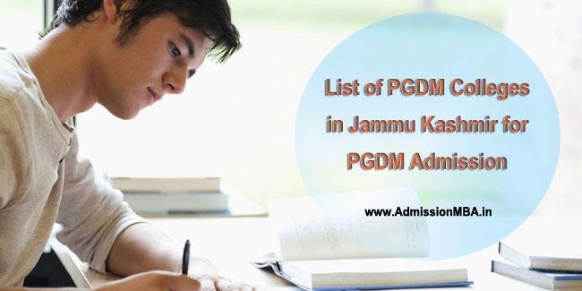 PGDM Admissions in Jammu Kashmir