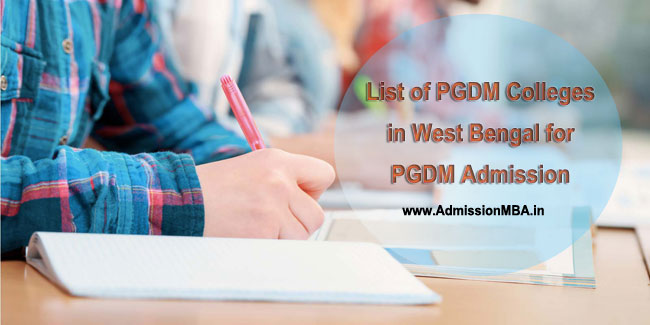 PGDM Admissions in West Bengal