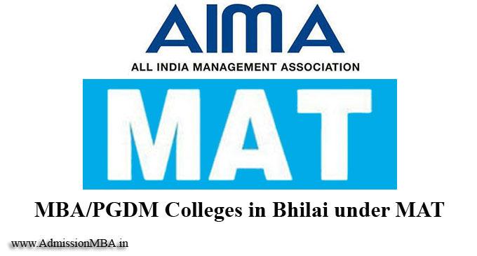 MBA/PGDM Colleges in Bhilai under MAT
