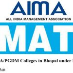 MBA/PGDM Colleges in Bhopal under MAT