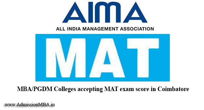 MBA/PGDM Colleges in Coimbatore under MAT