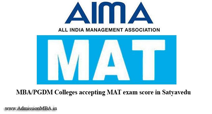 Satyavedu under MAT College