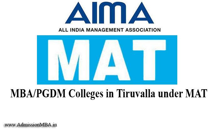 MBA/PGDM Colleges in Tiruvalla under MAT