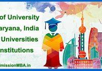 Universities & Institutions Haryana, India