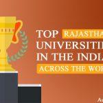 Rajasthan in tops Best universities across the Worldwide in India