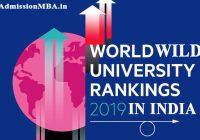 tops universities across Worldwide in India